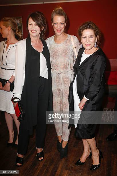 Iris Berben Heike Makatsch and Hannelore Elsner attend the producer party 2014 of the Alliance German Producer Cinema And Television on June 25 2014...