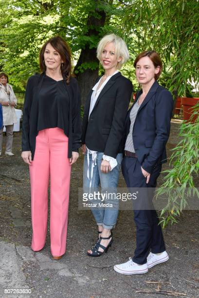 Iris Berben Katja Eichinger and Anne Leppin attend 'Mix It Ein filmpraktisches Projekt mit einheimischen und gefluechteten Jugendlichen' Premiere on...