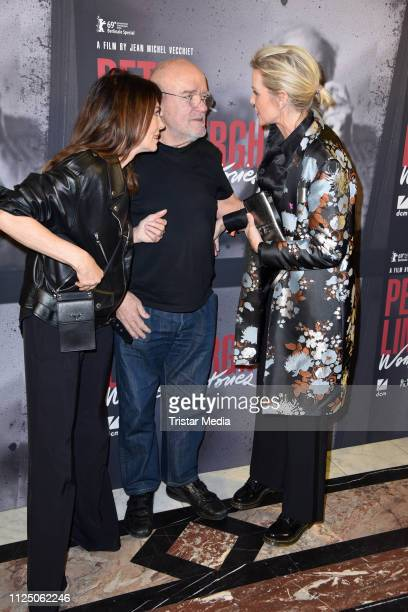 Iris Berben Peter Lindbergh and Nadja Auermann attend the 'Peter Lindbergh Women Stories' world premiere after show party during the 69th Berlinale...