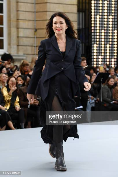 Iris Berben walks the runway during the Le Defile L'Oreal Paris Show as part of Paris Fashion Week on September 28 2019 in Paris France
