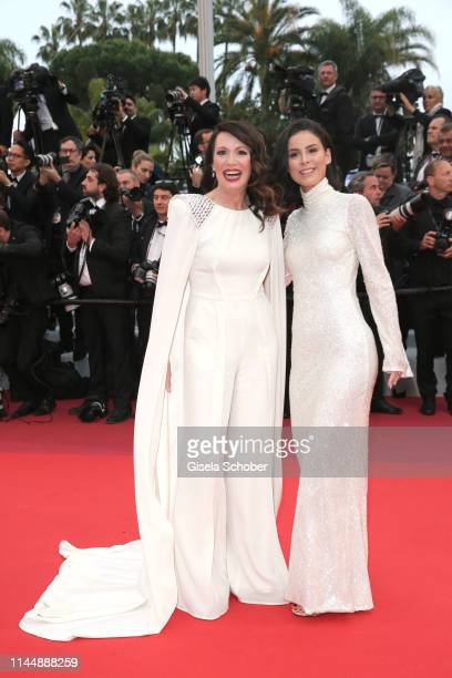 Iris Berben wearing Nobi Talai and Lena MeyerLandrut attend the screening of Les Plus Belles Annees D'Une Vie during the 72nd annual Cannes Film...