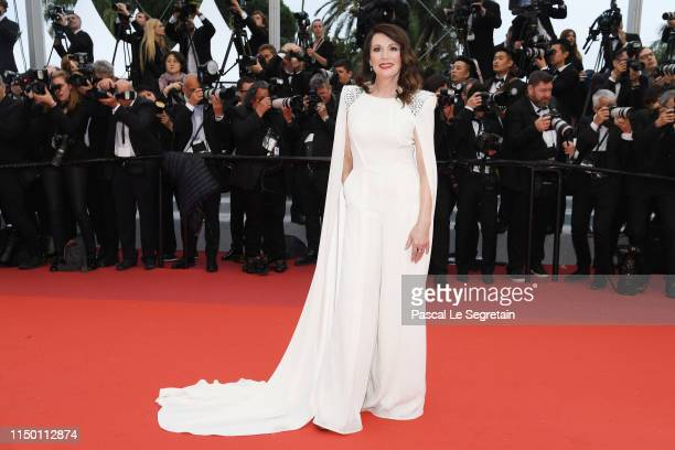 Iris Berben wearing Nobi Talai attends the screening of Les Plus Belles Annees D'Une Vie during the 72nd annual Cannes Film Festival on May 18 2019...