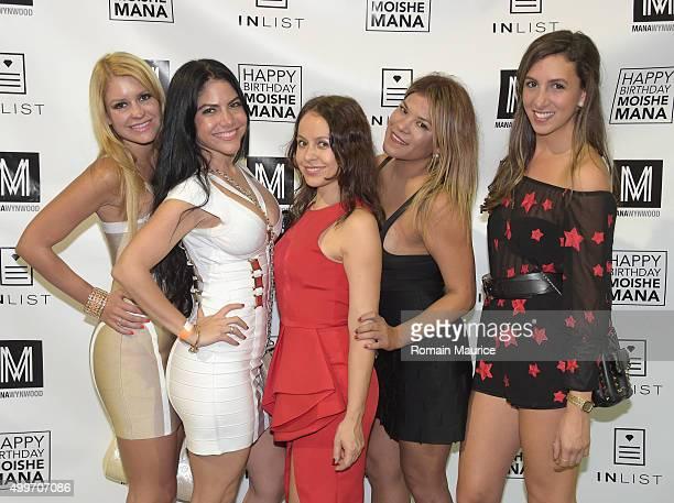 Iris Borges Vanessa Lopez Priscilla Rose and Kase Larabautes attend InList 1 Year Anniversary and Moishe Mana Birthday at Mana Wynwood on December 2...