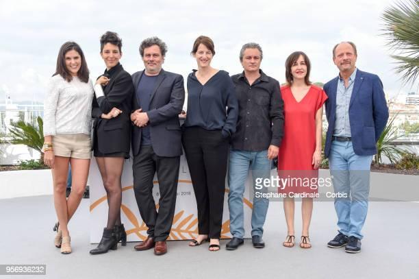 Iris Brey Marie Amachoukeli Arnaude Larrieu Camera d'Or jury head Ursula Meier with jury members JeanMarie Larrieu Jeanne Lapoire and Sylvain Fage...