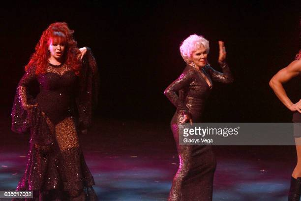 Iris Chacon and Charytin perform as part of the play MALAS at Centro de Bellas Artes on February 12 2017 in San Juan Puerto Rico