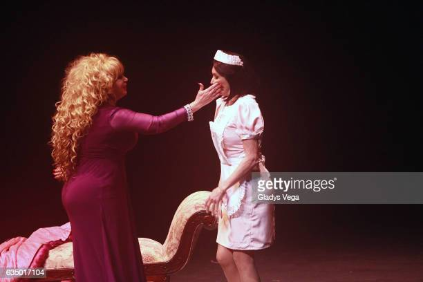 Iris Chacon and Giselle Blondet perform as part of the play MALAS at Centro de Bellas Artes on February 12 2017 in San Juan Puerto Rico