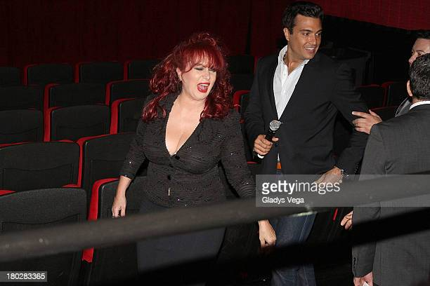 Iris Chacon and Jaime Camil arrive at 200 Cartas premiere on September 10 2013 in San Juan Puerto Rico