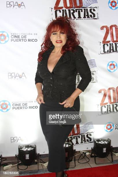 Iris Chacon arrives at 200 Cartas premiere on September 10 2013 in San Juan Puerto Rico