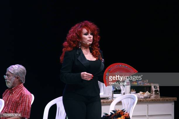 Iris Chacon performs as part of the play 'Enchismas' at Centro de Bellas Artes de Caguas on September 8 2018 in Caguas Puerto Rico