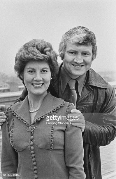 Iris Chapple and Alan Towers, the presenters of the BBC1 television show 'The Afternoon Programme', UK, 1st April 1974.