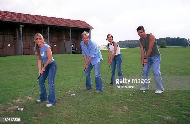 Iris Criens Andreas Lebbing Nastasja Marinkovic Albert Oberloher Mitglieder der Musik Gruppe Wind Bad Abbach Homestory Golf Golfplatz Golfschläger...