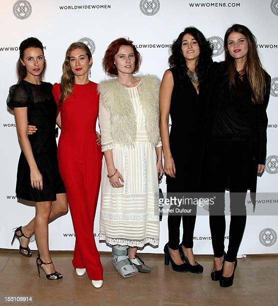 Iris Della Roca Anouska Beckwith Anna Pahlavi Claudia Legge and Alessandra Rehder attend the 'A Wanderer's Eyes' World Wide Women Exhibition Premier...