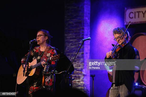 Iris DeMent is joined by David Mansfield when she performs at City Winery on November 15 2015 in New York City