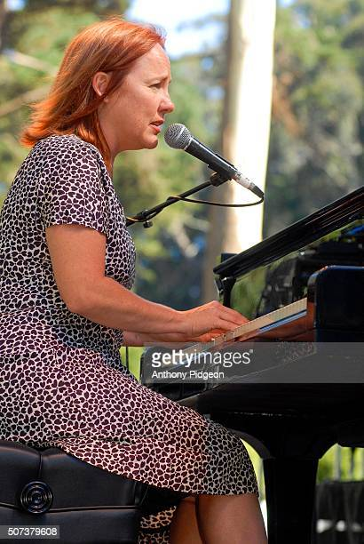 Iris DeMent performs onstage at Hardly Strictly Bluegrass festival Golden Gate Park San Francisco California USA on 8th October 2006