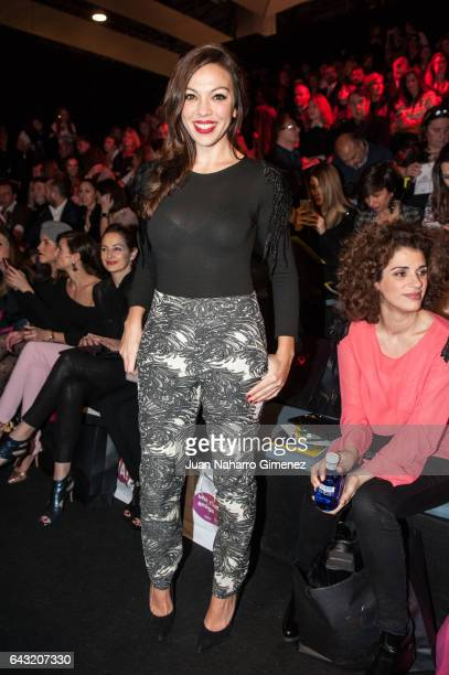 Iris Diaz attends the front row of Esther Noriega show during Mercedes Benz Fashion Week Madrid Autumn / Winter 2017 at Ifema on February 20, 2017 in...