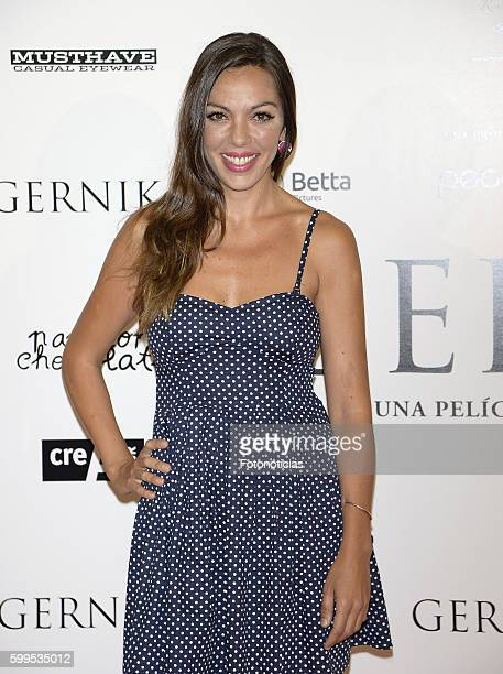 Iris Diaz attends the 'Gernika' premiere at Palafox cinema on September 5 2016 in Madrid Spain