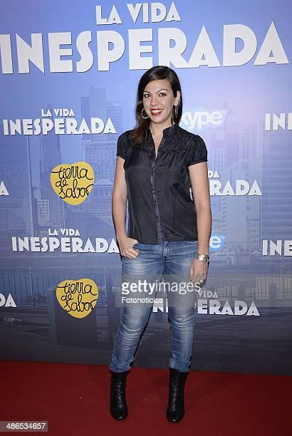 Iris Diaz attends the 'La Vida Inesperada' premiere at Callao cinema on April 24, 2014 in Madrid, Spain.