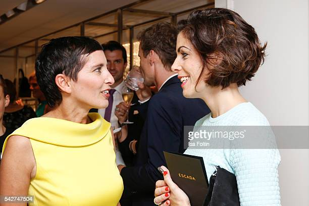 Iris Epple Righi CEO Escada and editor Annelies Pijper attend the ESCADA Flagship Store Opening on June 23 2016 in Duesseldorf Germany