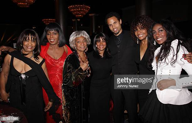 Iris Gordy, Judy Pace, Nichelle Nichols, Rebe Jackson, Quddus, Beverly Todd, and Shanie Annie attend the 11th Annual Uniting Nations Awards viewing...