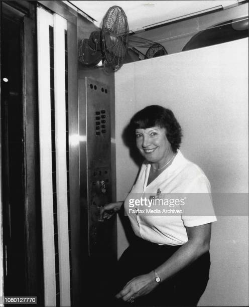 Iris Gorman who has been driving lifts in the David Jones Market Street store for the last 15 years February 21 1984