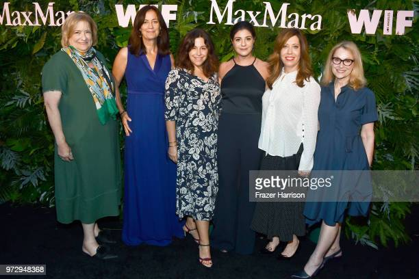 Iris Grossman Jane Fleming Amy Baer Maria Giulia Maramotti Kirsten Schaffer and Gayle Nachlis wearing Max Mara attend the Max Mara Celebration for...