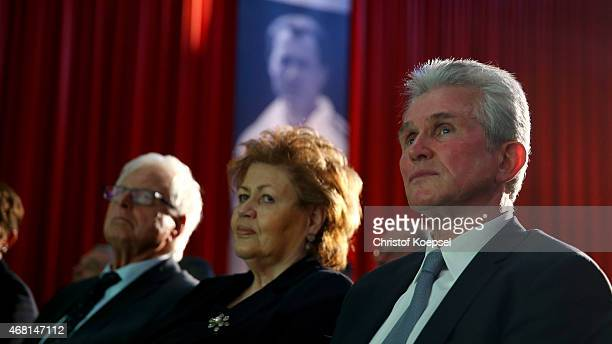 Iris Heynckes and football coach Jupp Heynckes was honoured with the honorary price of his life's work of the German Football Association during the...