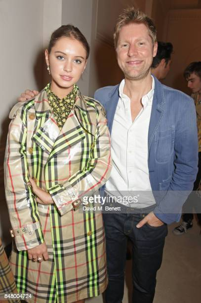 Iris Law and Christopher Bailey wearing Burberry at the Burberry September 2017 at London Fashion Week at The Old Sessions House on September 16 2017...