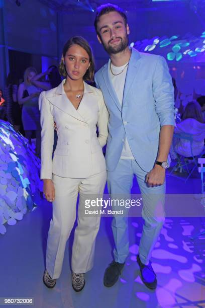 Iris Law and Douglas Booth attend as Tiffany & Co. Celebrates the launch of the Tiffany Paper Flower collection at The Lindley Hall on June 21, 2018...