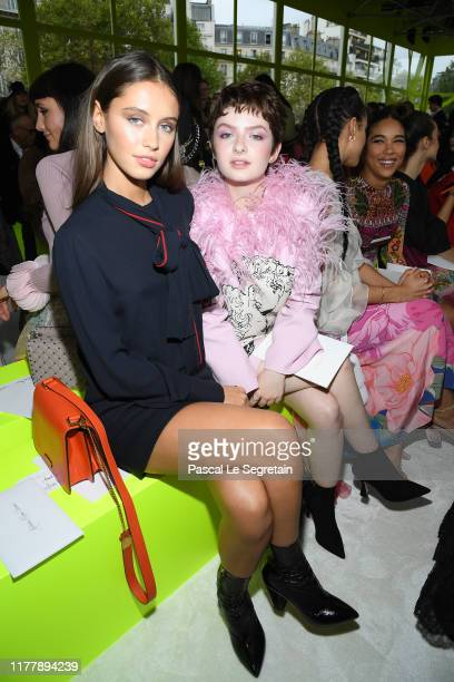 Iris Law and Lachlan Watson attend the Valentino Womenswear Spring/Summer 2020 show as part of Paris Fashion Week on September 29, 2019 in Paris,...