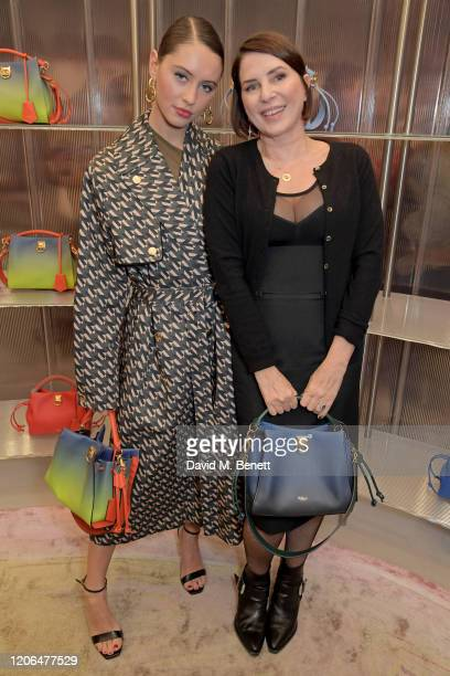 Iris Law and Sadie Frost attend the launch event of Mulberry's 'Iris for Iris' capsule collection designed by Iris Law, on March 10, 2020 in London,...
