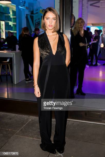Iris Law attends a party at Tiffany & Co. Concept Store in Covent Garden to celebrate the start of the Holiday Season on November 08, 2018 in London,...