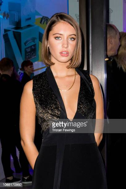 Iris Law attends a party at Tiffany Co Concept Store in Covent Garden to celebrate the start of the Holiday Season on November 08 2018 in London...