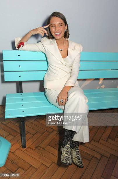 Iris Law attends as Tiffany & Co. Celebrates the launch of the Tiffany Paper Flower collection at The Lindley Hall on June 21, 2018 in London,...