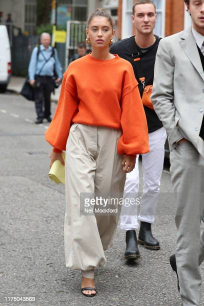 Iris Law attends JW Anderson at Yeomanry House during LFW September 2019 on September 16 2019 in London England