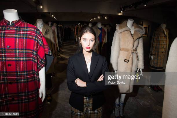 Iris Law attends the 'Here We Are' Burberry Exhibition as part of Paris Fashion Week on January 24 2018 in Paris France