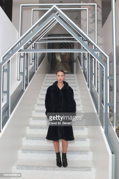 Iris Law attends the launch of new restaurant Brasserie Of Light at Selfridges on November 20, 2018 in London, England.