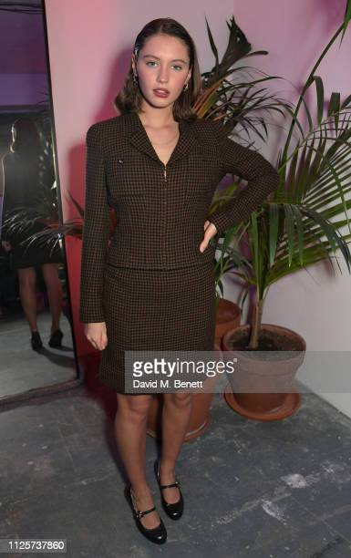 Iris Law attends the LOVE x The Store X party celebrating LOVE issue 21, supported by Perrier Jouet, at The Store X on February 18, 2019 in London,...