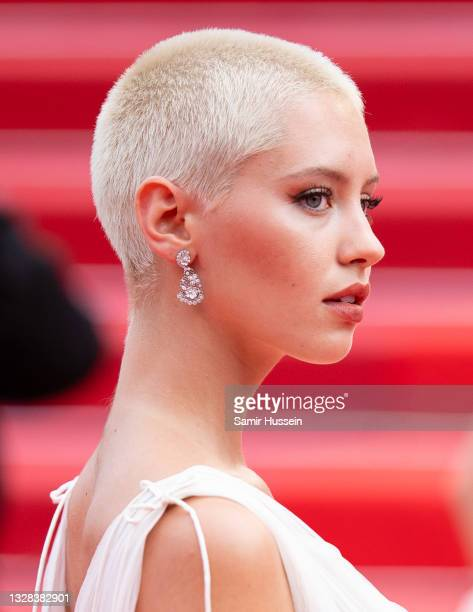 """Iris Law attends the """"The French Dispatch"""" screening during the 74th annual Cannes Film Festival on July 12, 2021 in Cannes, France."""