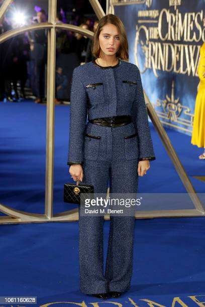 "Iris Law attends the UK Premiere of ""Fantastic Beasts: The Crimes Of Grindelwald"" at Cineworld Leicester Square on November 13, 2018 in London,..."