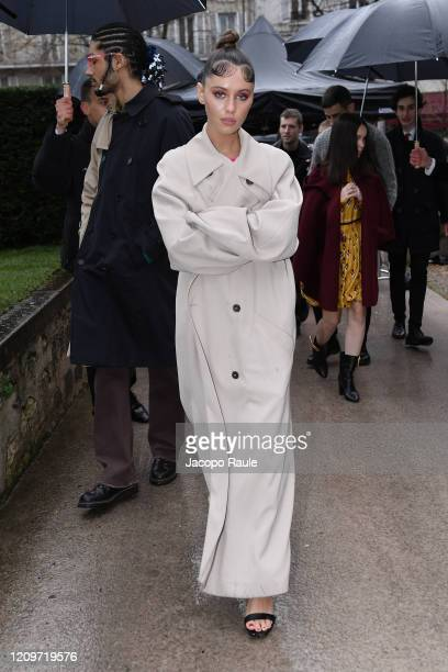 Iris Law attends the Valentino show as part of the Paris Fashion Week Womenswear Fall/Winter 2020/2021 on March 01, 2020 in Paris, France.