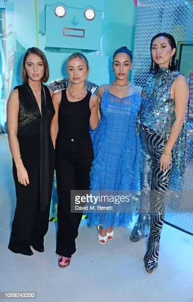 Iris Law, Lady Amelia Windsor, Jorja Smith and Betty Bachz pose at the Tiffany & Co. Concept Store in Covent Garden to celebrate the start of the...