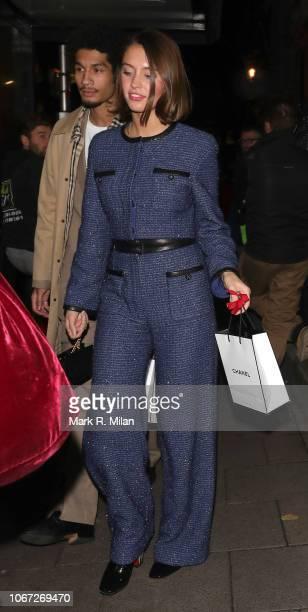 Iris Law leaving Annabel's Club on November 13 2018 in London England