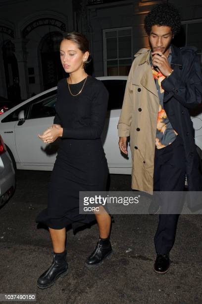 Iris Law seen arriving at Bagatelle club in Mayfair on September 21 2018 in London England