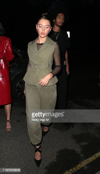 Iris Law seen attending A Magazine Curated By issue launch party at Two Temple Place on May 29 2019 in London England