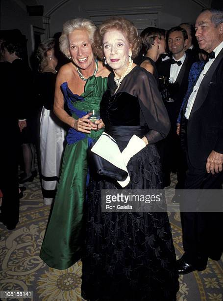 Iris Love and Brooke Astor during 1992 Animal Medical Center Hosts Top Dog Gala at The Pierre Hotel in New York City New York United States