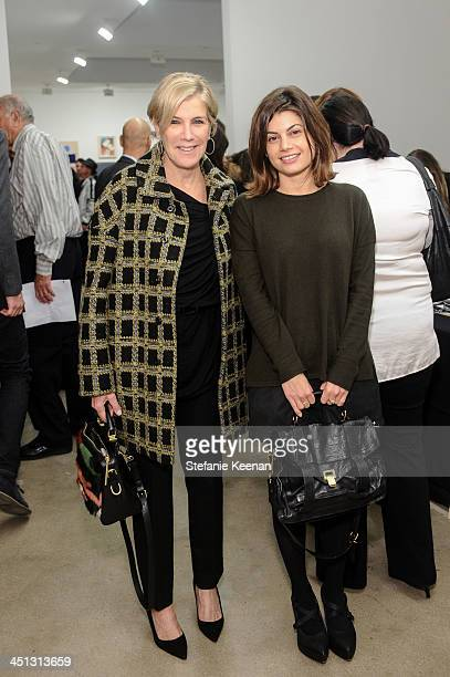 Iris Marden and guest attend The Rema Hort Mann Foundation LA Artist Initiative Benefit Auction on November 21 2013 in Los Angeles California