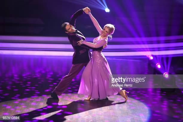 Iris Mareike Steen and Christian Polanc perform on stage during the 1st show of the 11th season of the television competition 'Let's Dance' on March...