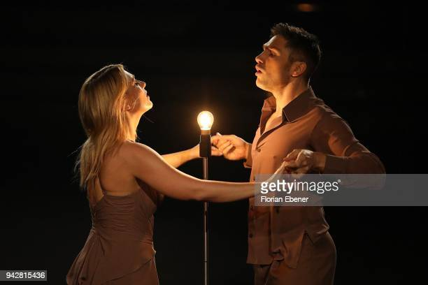 Iris Mareike Steen and Christian Polanc perform on stage during the 3rd show of the 11th season of the television competition 'Let's Dance' on April...