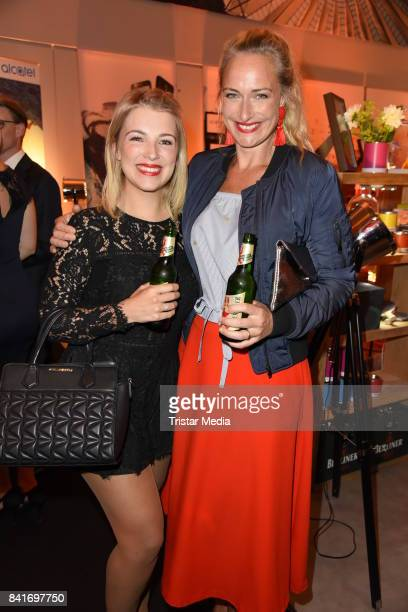 Iris Mareike Steen and Eva Mona Rodekirchen during the Alcatel Entertainment Night feat Music Meets Media at Sheraton Berlin Grand Hotel Esplanade on...
