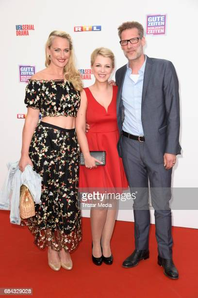 Iris Mareike Steen Clemens Loehr and Eva Mona Rodekirchen attend the 25th anniversary party of the TV show 'GZSZ' on May 17 2017 in Berlin Germany